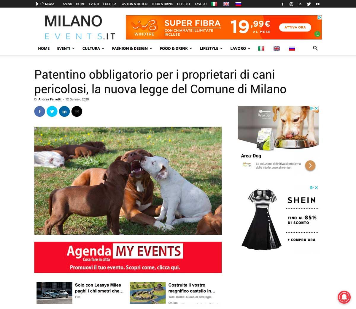foto Pitbullreserve rubata da milanonews su articolo patentino cani